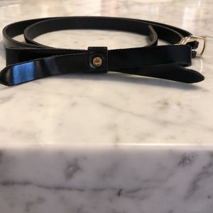Ted Baker patented leather bow belt